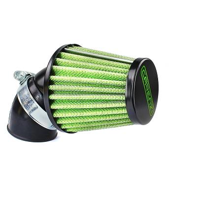 Air filter CARENZI black/green adjustable 28/35mm