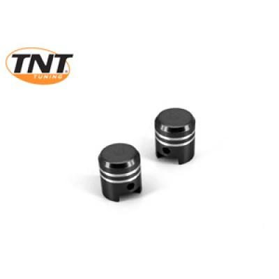 Bouchon de valve de pneu piston noir
