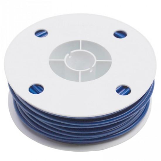 Gaine bleue à fil plat pour câble vendue au mètre