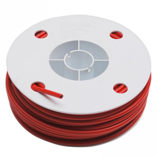 Gaine rouge à fil plat pour câble vendue au mètre